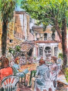 Dessin d'Ibon - jardin de France Langue Bordeaux